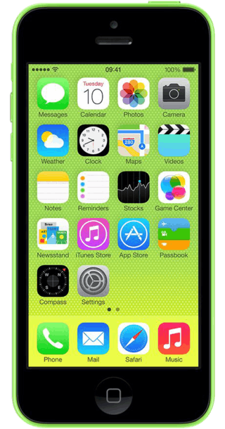 Apple iPhone 5c 32GB Green front
