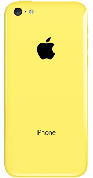 Apple iPhone 5c 32GB Yellow back