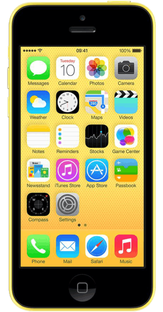 Apple iPhone 5c 32GB Yellow front