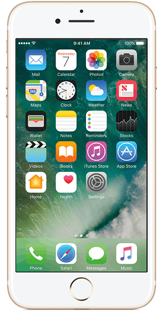 Apple iPhone 7 32GB Gold front