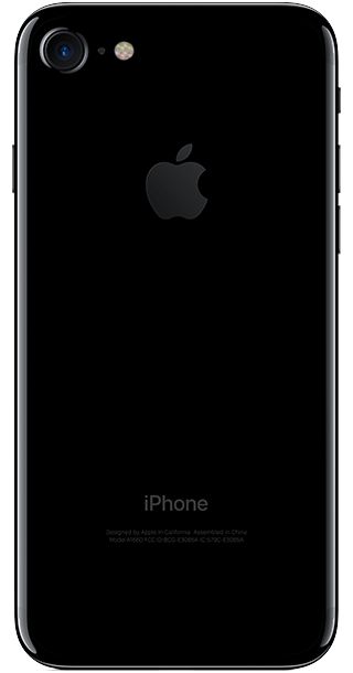Apple iPhone 7 256GB Jet Black back