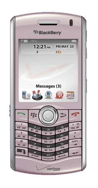 BlackBerry Pearl 8120 Pink front