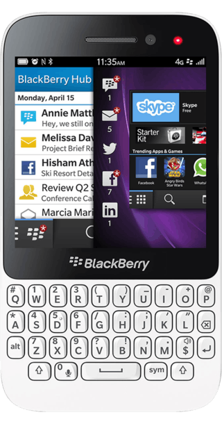 BlackBerry Q5 White front