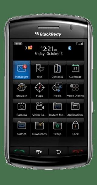 BlackBerry Storm 9500 front