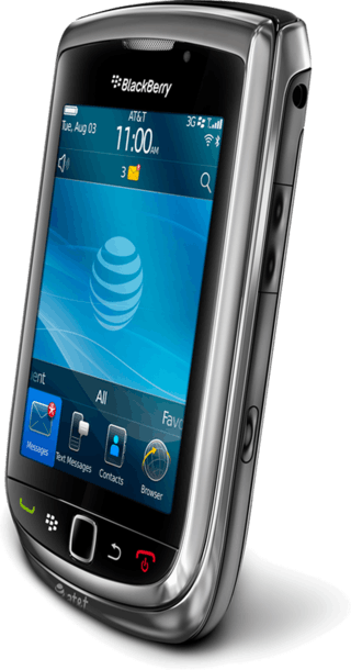 BlackBerry Torch side