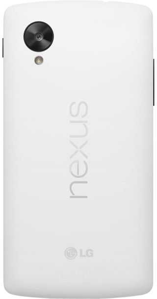 Google Nexus 5 White back