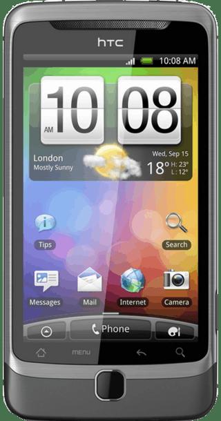 HTC Desire Z front