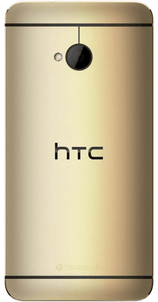 HTC One Gold (2013) back
