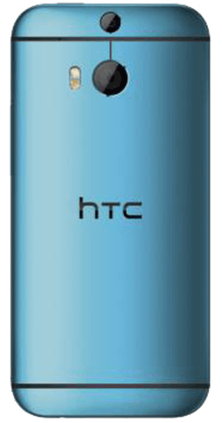 HTC One M8 Blue back