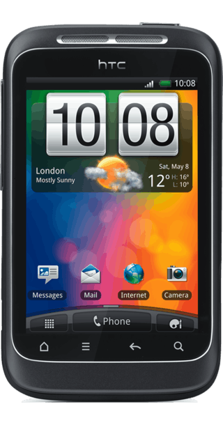 HTC Wildfire S Grey front