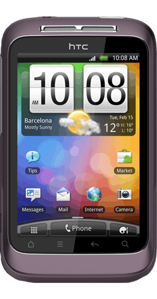 HTC Wildfire S Purple front