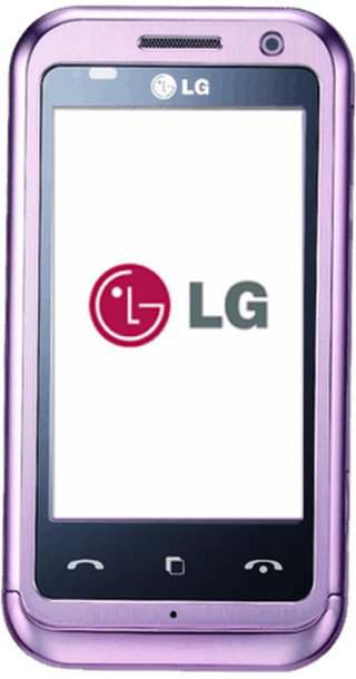LG Arena KM900 Pink front