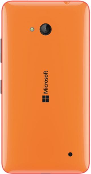 Microsoft Lumia 640 Orange back