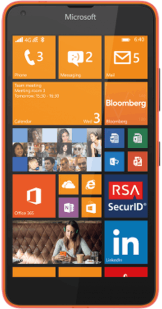 Microsoft Lumia 640 Orange front