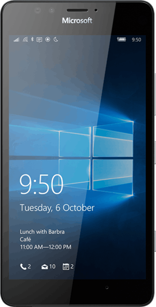 Microsoft Lumia 950 32GB Black front