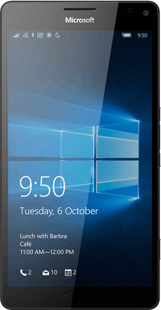 Microsoft Lumia 950 XL 32GB Black front