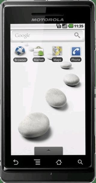 Motorola Milestone front
