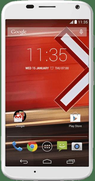 Motorola Moto X White front