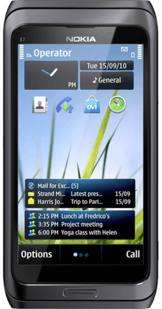 Nokia E7 Black front