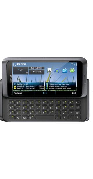 Nokia E7 Black side