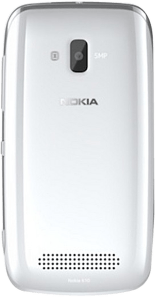 Nokia Lumia 610 White back