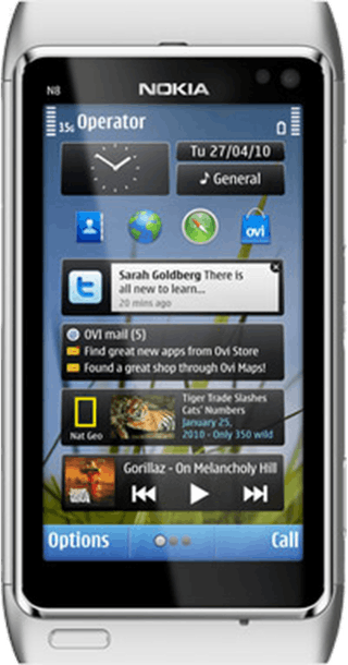 Nokia N8 Silver front