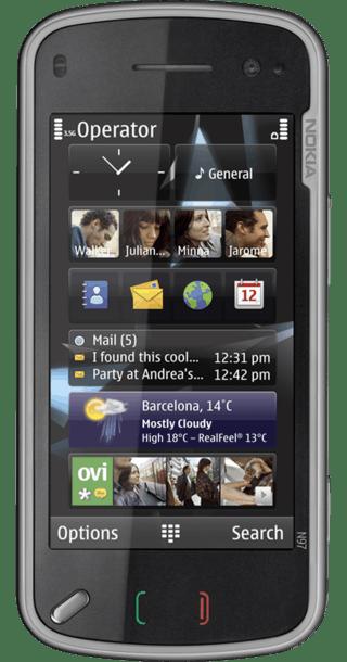 Nokia N97 Black front