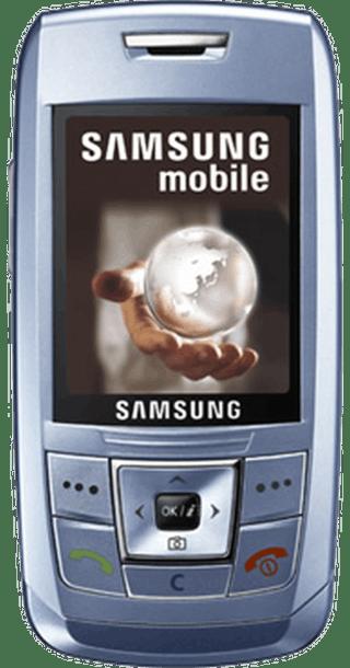 Samsung E250 Blue front