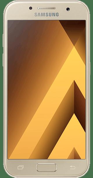 Samsung Galaxy A3 2017 16GB Gold front