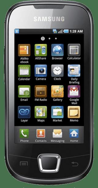 Samsung Galaxy Europa i5500 front