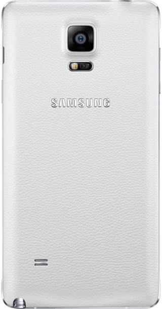 Samsung Galaxy Note 4 White back