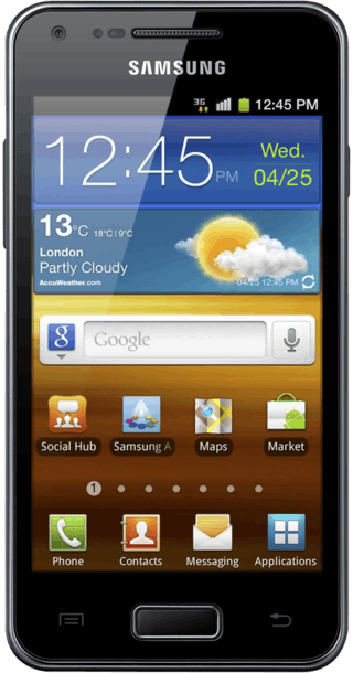 Samsung Galaxy S Advance front