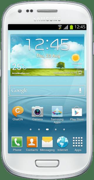 Samsung Galaxy S3 Mini White front