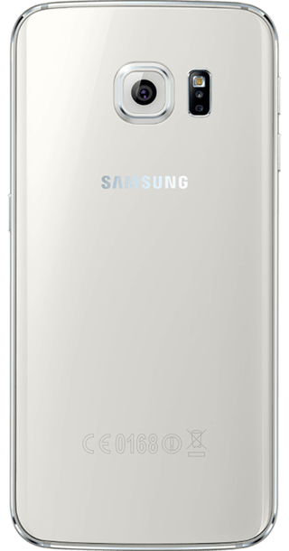 Samsung Galaxy S6 Edge 128GB White Pearl back