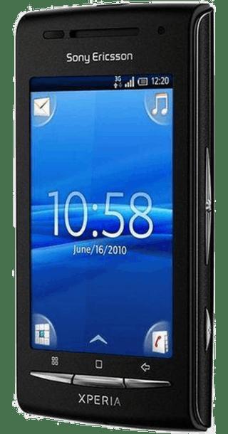 Sony Ericsson Xperia X8 side