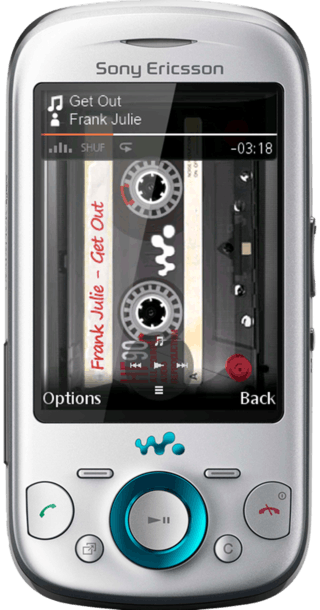 Sony Ericsson Zylo Silver front