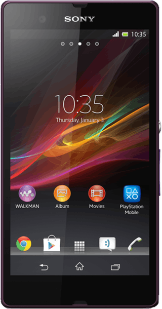 Sony Xperia Z Purple front