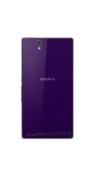 Sony Xperia Z Purple side