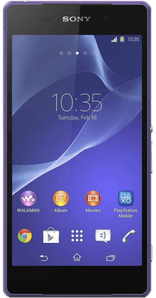 Sony Xperia Z2 Purple front