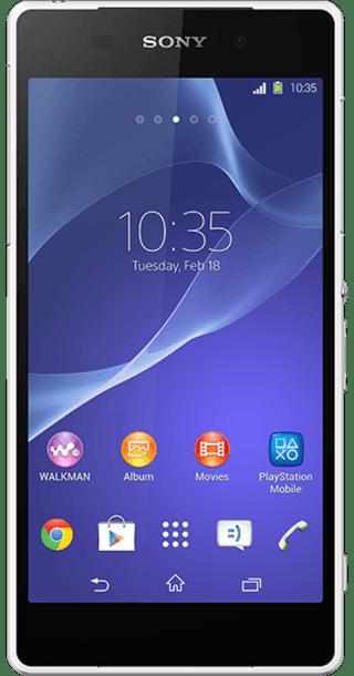 Sony Xperia Z2 White front