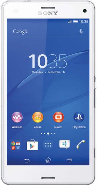 Sony Xperia Z3 Compact White front